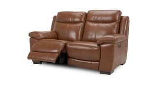 Liaison leder en lederlook 2-zitter handbediende recliner