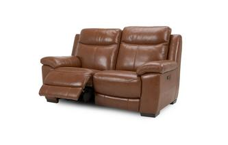 Leather and Leather Look 2 Seater Manual Recliner Brazil with Leather Look Fabric