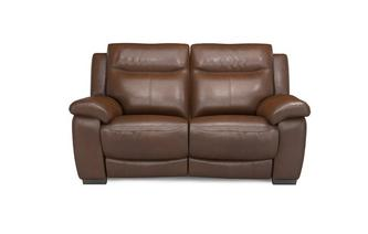 Liaison Leather and Leather Look 2 Seater Manual Recliner Brazil with Leather Look Fabric