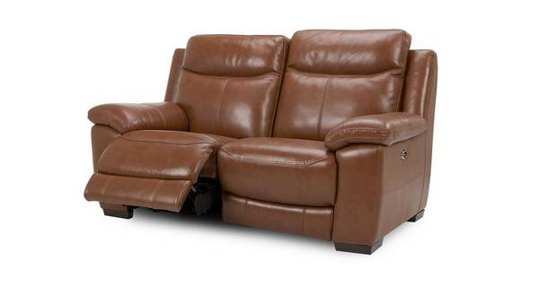 Liaison Leather and Leather Look 2 Seater Electric Recliner
