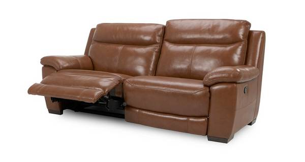 Liaison Leather and Leather Look 3 Seater Manual Recliner