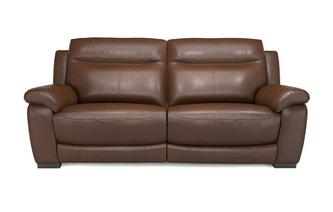 Liaison Leather and Leather Look 3 Seater Manual Recliner Brazil with Leather Look Fabric