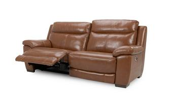 Leather and Leather Look 3 Seater Electric Recliner Brazil with Leather Look Fabric