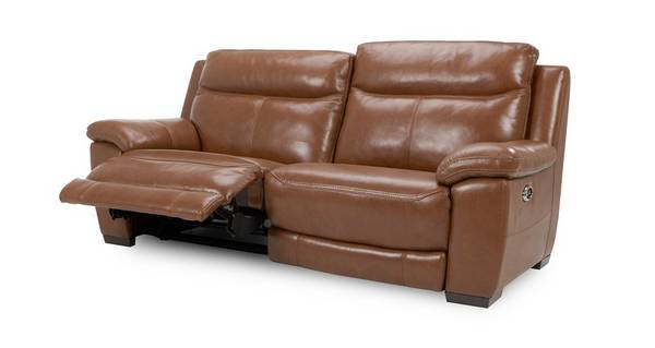 Liaison Leather and Leather Look 3 Seater Electric Recliner