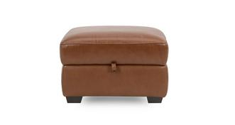 Liaison Leather and Leather Look Storage Footstool