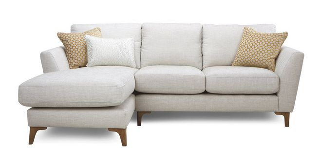 Libby: Plain Left Hand Facing Chaise End 2 Seater Sofa