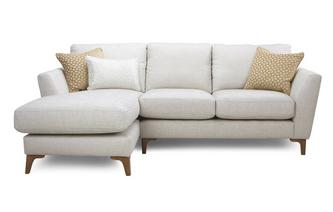 Plain Left Hand Facing Chaise End 2 Seater Sofa