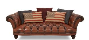 Liberty Large Brown Sofa