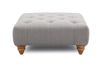 Square Button Top Footstool Opera