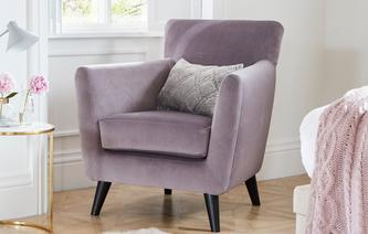 Delightful 21daydelivery Lily Chair Velvet House Beautiful