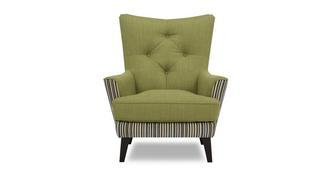 Lisson Effen en streep Accent fauteuil
