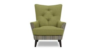 Lisson Plain and Stripe Accent Chair