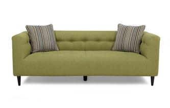 Plain and Stripe Large Sofa