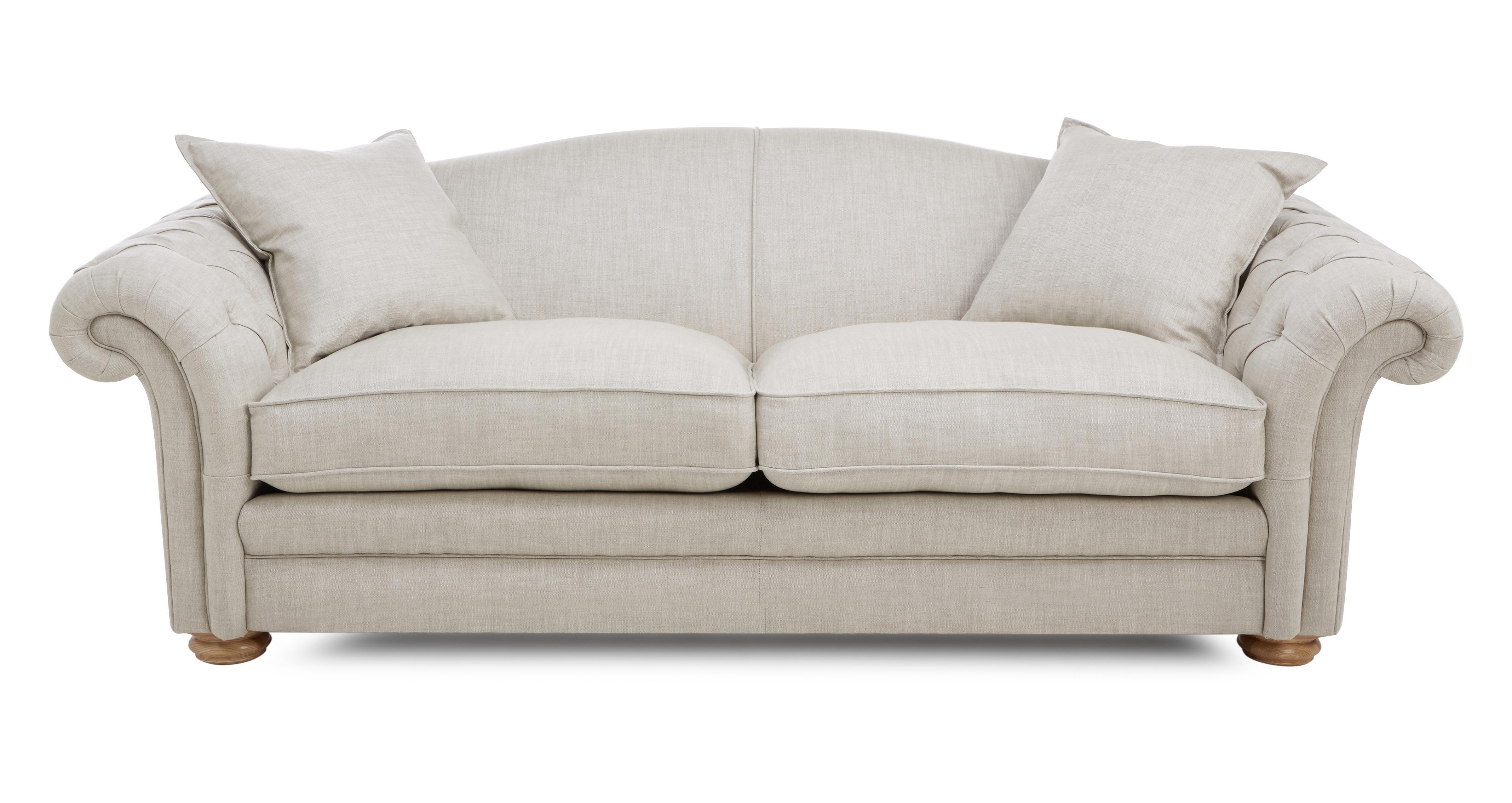 Loch Leven Plain Pillow Back 4 Seater Sofa Meadow Plain Dfs