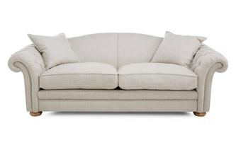 Plain Pillow Back 4 Seater Sofa Meadow Plain