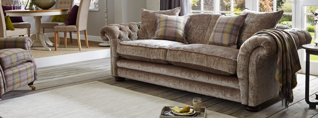 Loch Leven Pillow Back 4 Seater Sofa