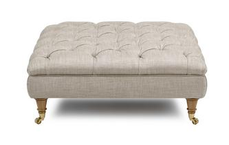 Plain Large Button Footstool