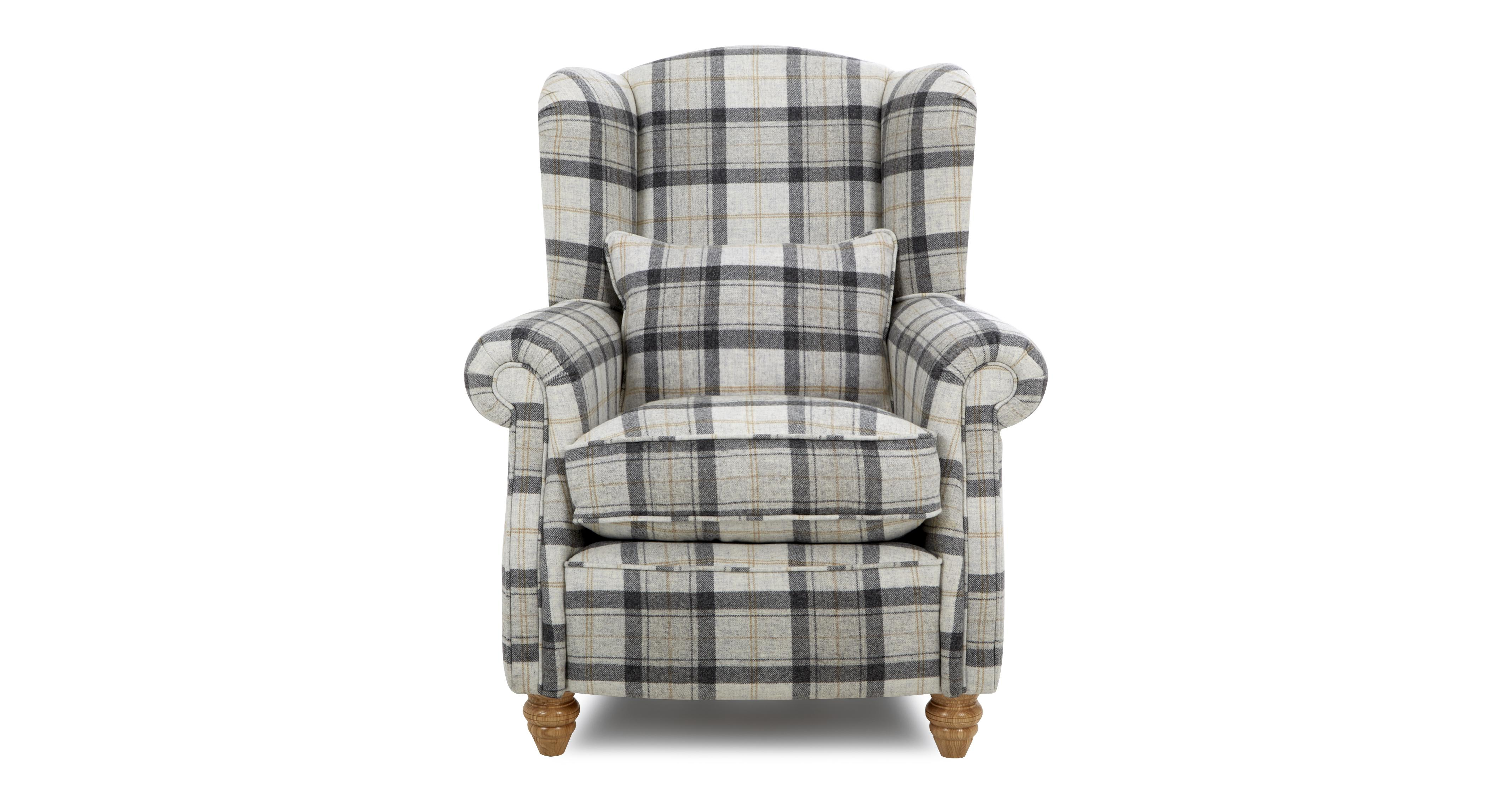 Loch Leven Wing Chair Gower Plaid