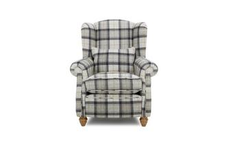 Plaid Wing Chair
