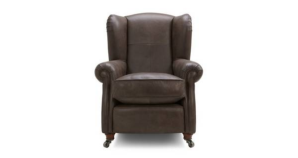 Loch Leven Leather Wing Chair