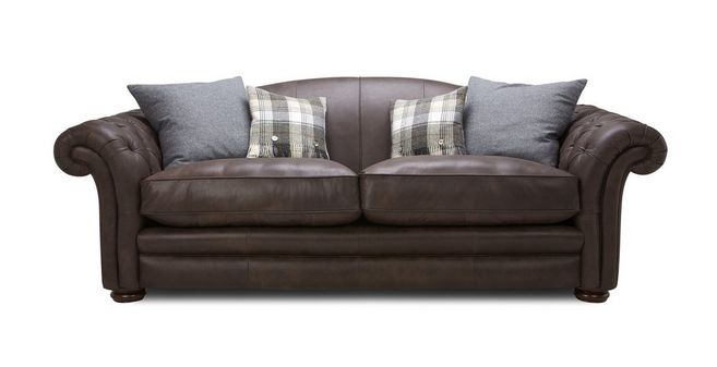 Loch Leven Leather: 4 Seater Sofa