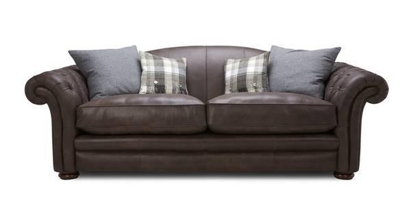 Loch Leven Leather Grand Sofa