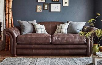 Loch Leven Leather 4 Seater Sofa  Loch Leven Leather