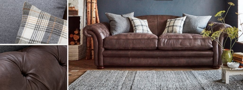 Loch Leven Leather Large Sofa Dfs Ireland