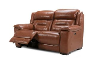 2 Seater Power Plus Recliner Brazil with Leather Look Fabric