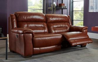 Locksley 3 Seater Manual Recliner Brazil with Leather Look Fabric