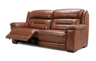 3 Seater Power Recliner Brazil with Leather Look Fabric