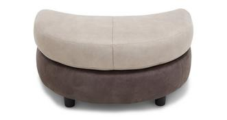 Logan Half Moon Footstool