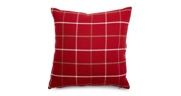 Lomax Plain Check Scatter Cushion