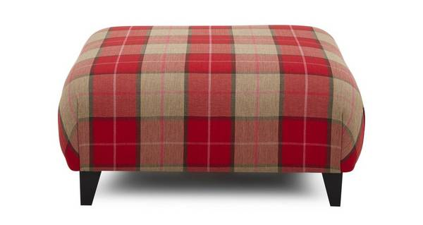 Lomax Multi Check Large Footstool