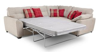 Lomax Left Hand Facing 3 Seater Deluxe Corner Sofa Bed