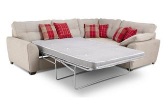 Left Hand Facing 3 Seater Deluxe Corner Sofa Bed Keeper