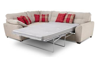 Right Hand Facing 3 Seater Deluxe Corner Sofa Bed Keeper
