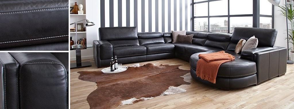 London 4 Piece Corner Sofa New Club Contrast