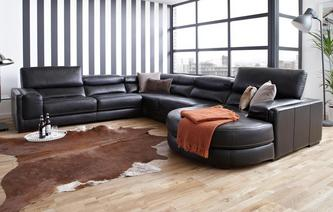 London 4 Piece Corner Sofa New Club Contrast