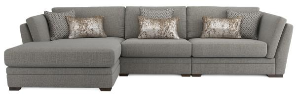 Long beach chaise end sofa, left hand facing
