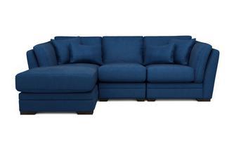 Velvet Left Hand Facing Small Chaise Sofa Long Beach Velvet