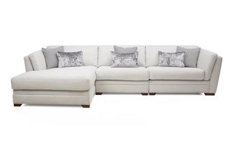 Left Hand Facing Large Chaise Sofa