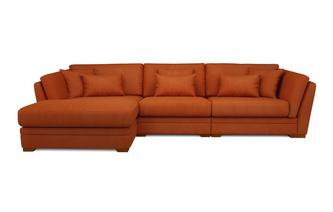 Long Beach Left Hand Facing Large Chaise Sofa Long Beach Velvet