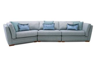 Left Hand Facing Large Angle Sofa Long Beach