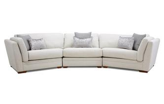 Large 3 Piece Angled Sofa