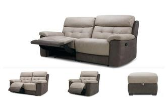 Loretto Clearance 3 Seater Manual Recliner Sofa, 2 Seater Power, Power Chair & Stool Arizona