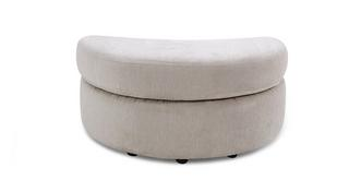 Lotus Half Moon Footstool