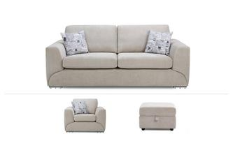 3 Seater, Chair & Footstool