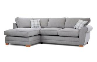 Louis Formal Back Right Hand Facing Arm Corner Deluxe Sofa Bed Arran