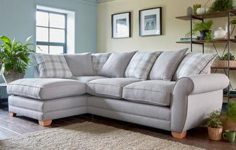 Louis Pillow Back Right Hand Facing Arm Corner Deluxe Sofa Bed Arran